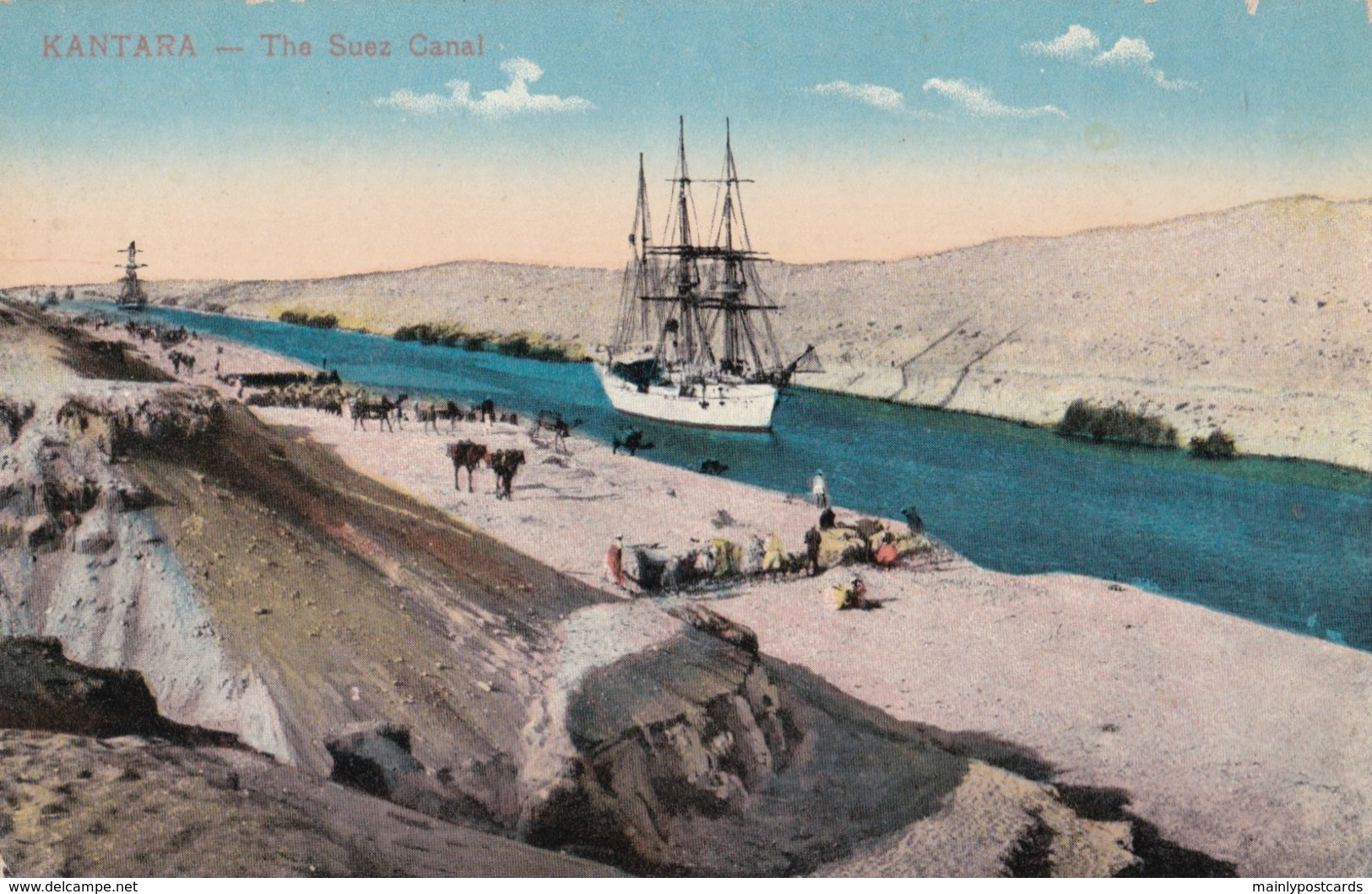 AP56 Kantare, The Suez Canal - Animated, Boat, Camels - Egypt