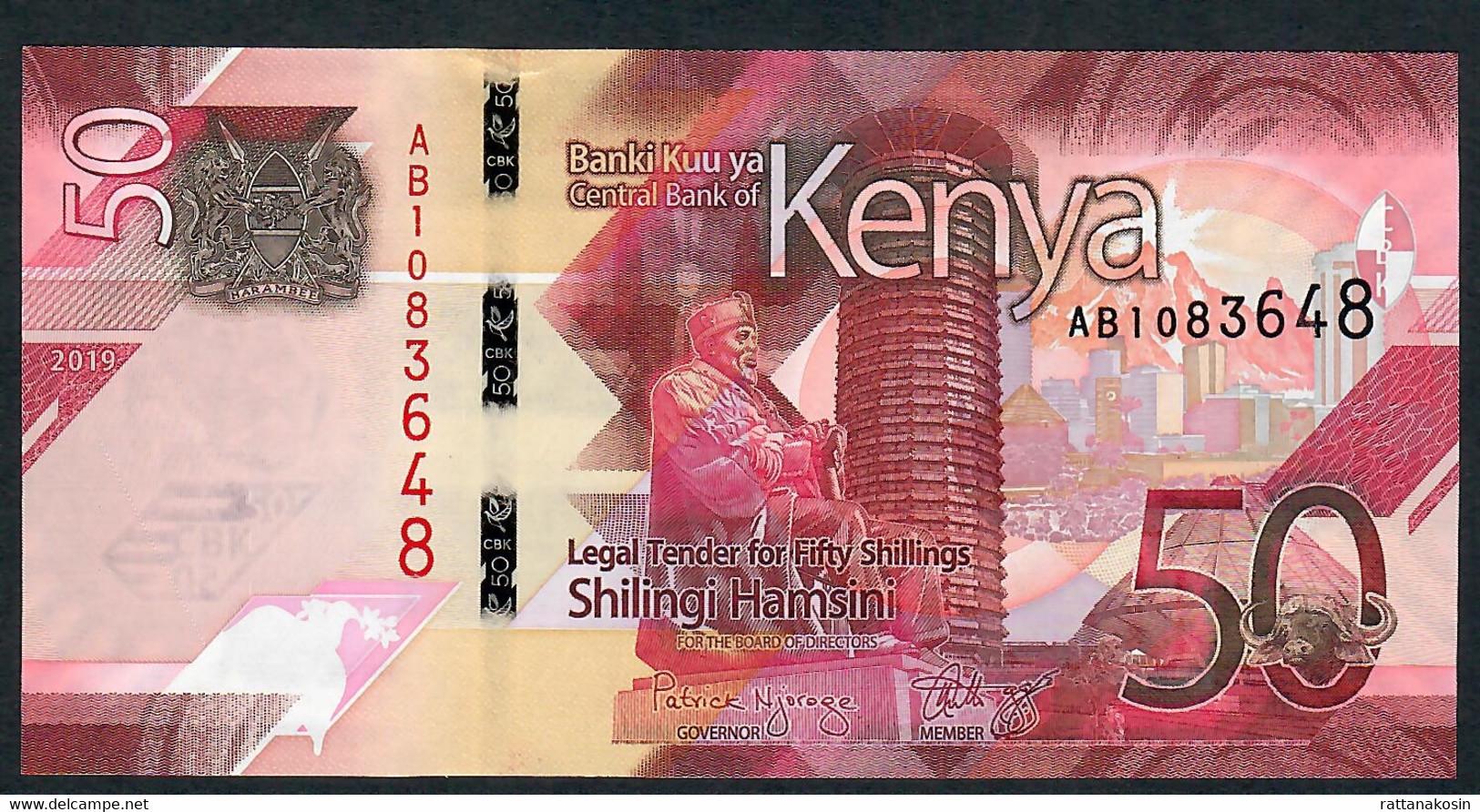 KENYA NLP 50 SHILLINGI 2019 #AB UNC. - Kenia