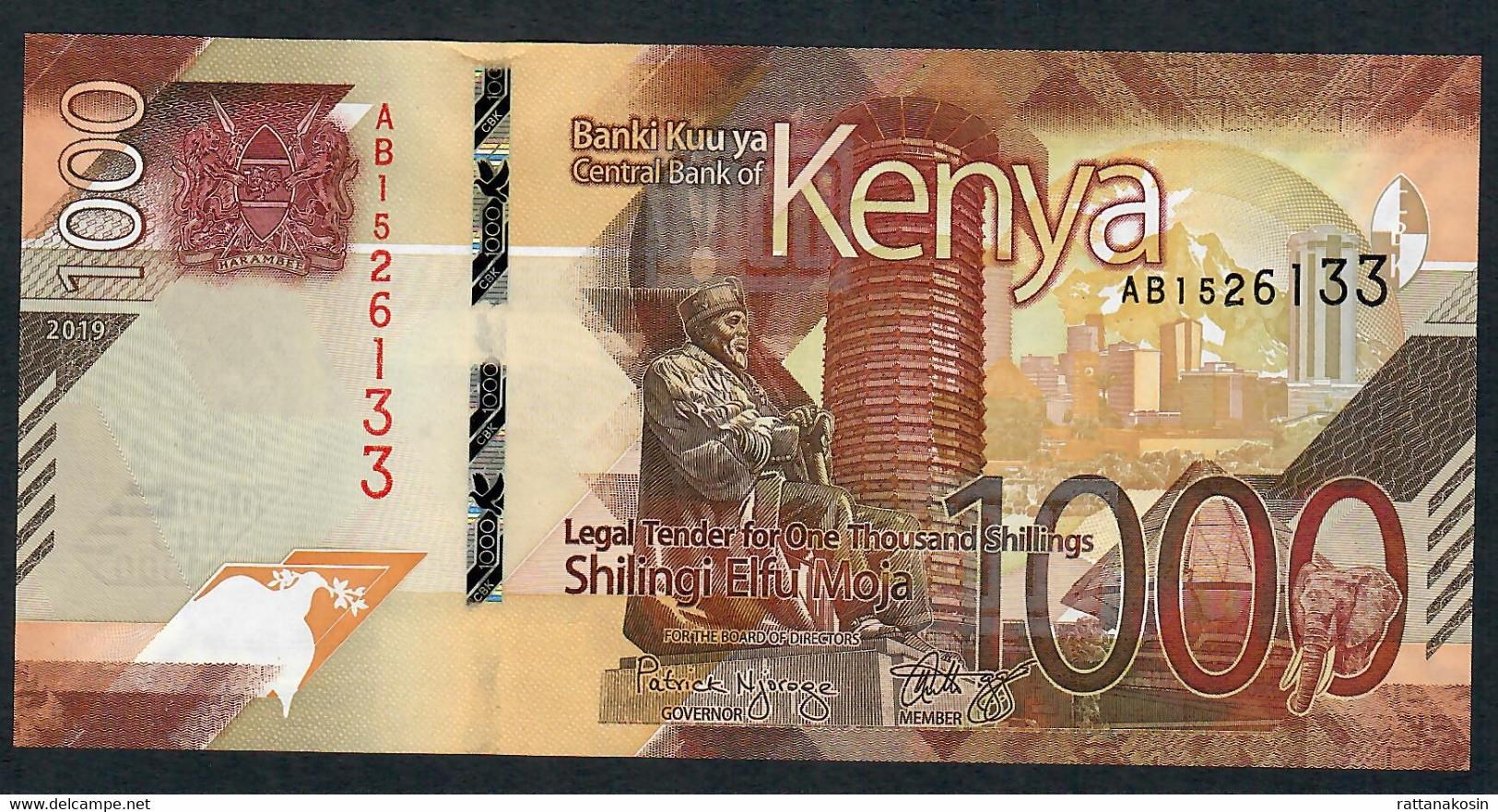 KENYA NLP 1000 SHILLINGI 2019 #AB UNC. - Kenia