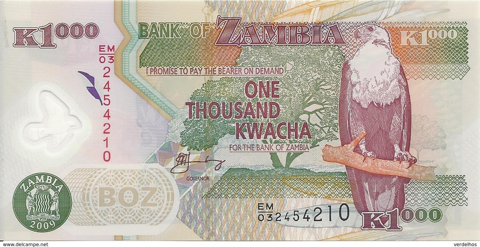 ZAMBIE 1000 KWACHA 2009 UNC P 44 G - Zambie