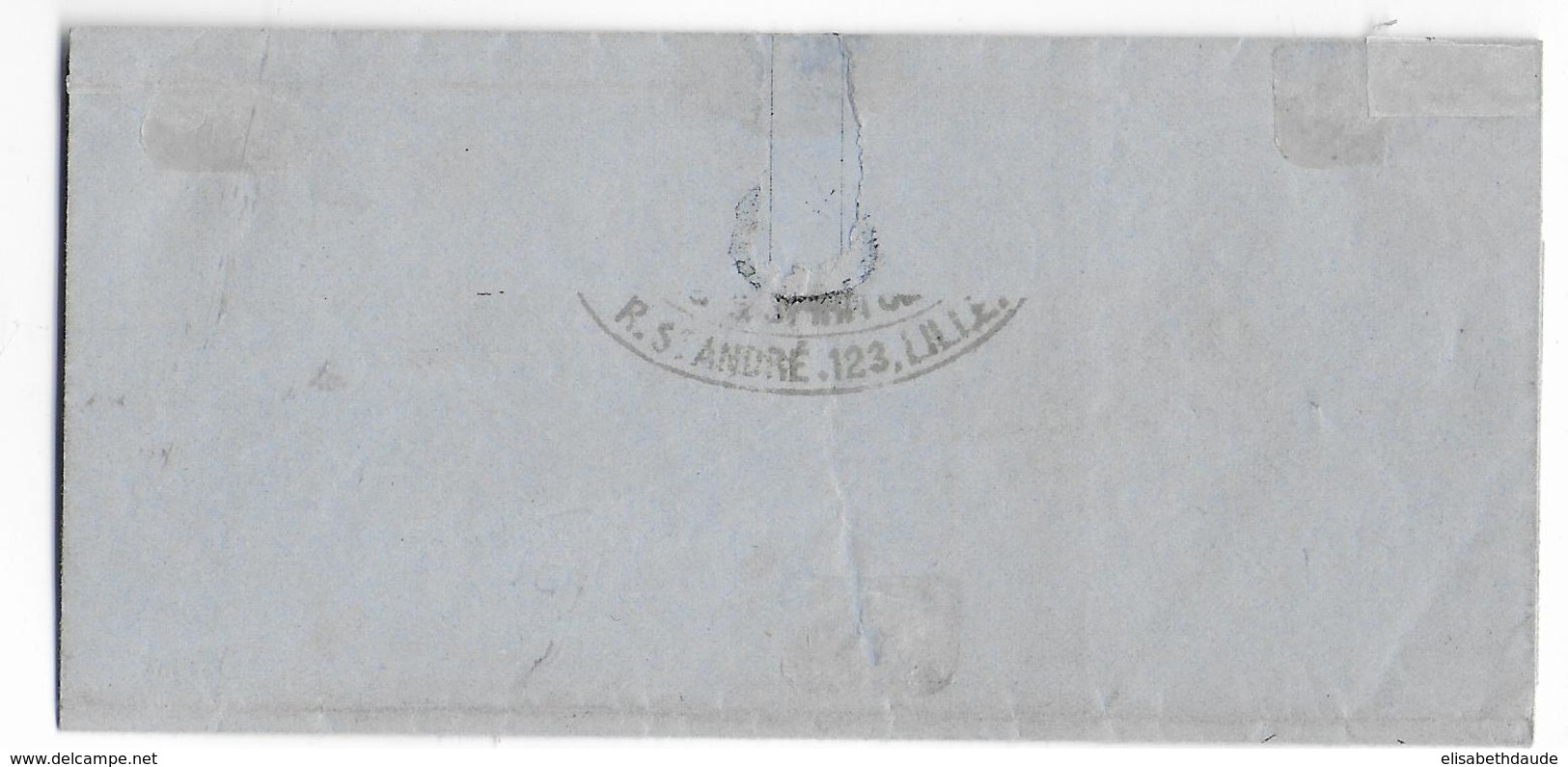 SEPT 1871 - AFFRANCHISSEMENT MIXTE BORDEAUX (SUP) / SIEGE - LETTRE De LILLE (NORD) => SECLIN - 1849-1876: Classic Period
