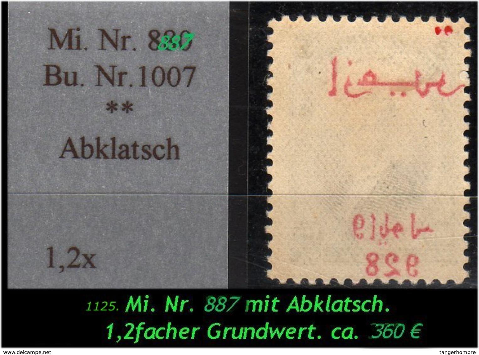 EARLY OTTOMAN SPECIALIZED FOR SPECIALIST, SEE....Mi. Nr. 887 Mit Schönen, Seltenen Abklatsch - Nuevos