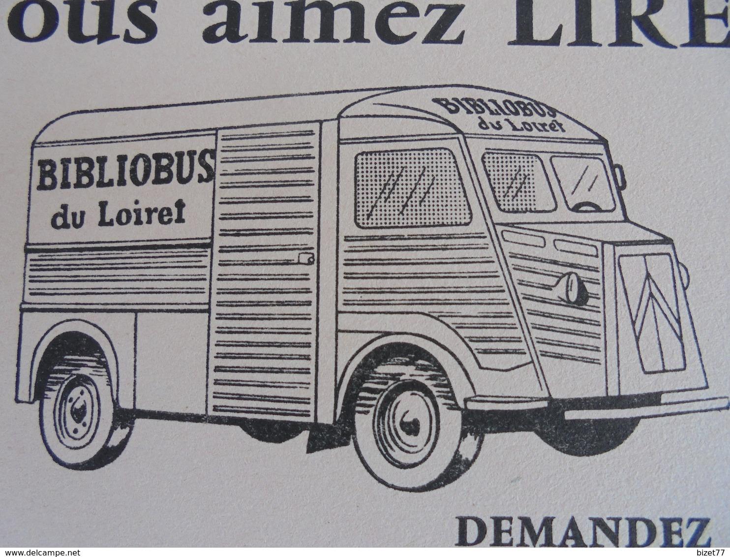 ORLEANS, BIBLIOBUS DU LOIRET, RUE DUPANLOUP - Blotters