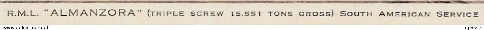 """CPA Bateau PAQUEBOT R.M.L. """"ALMANZORA"""" Royal Mail Lines Ltd (repiquage Travel Agency 14 DEAUVILLE) Ship - Paquebots"""