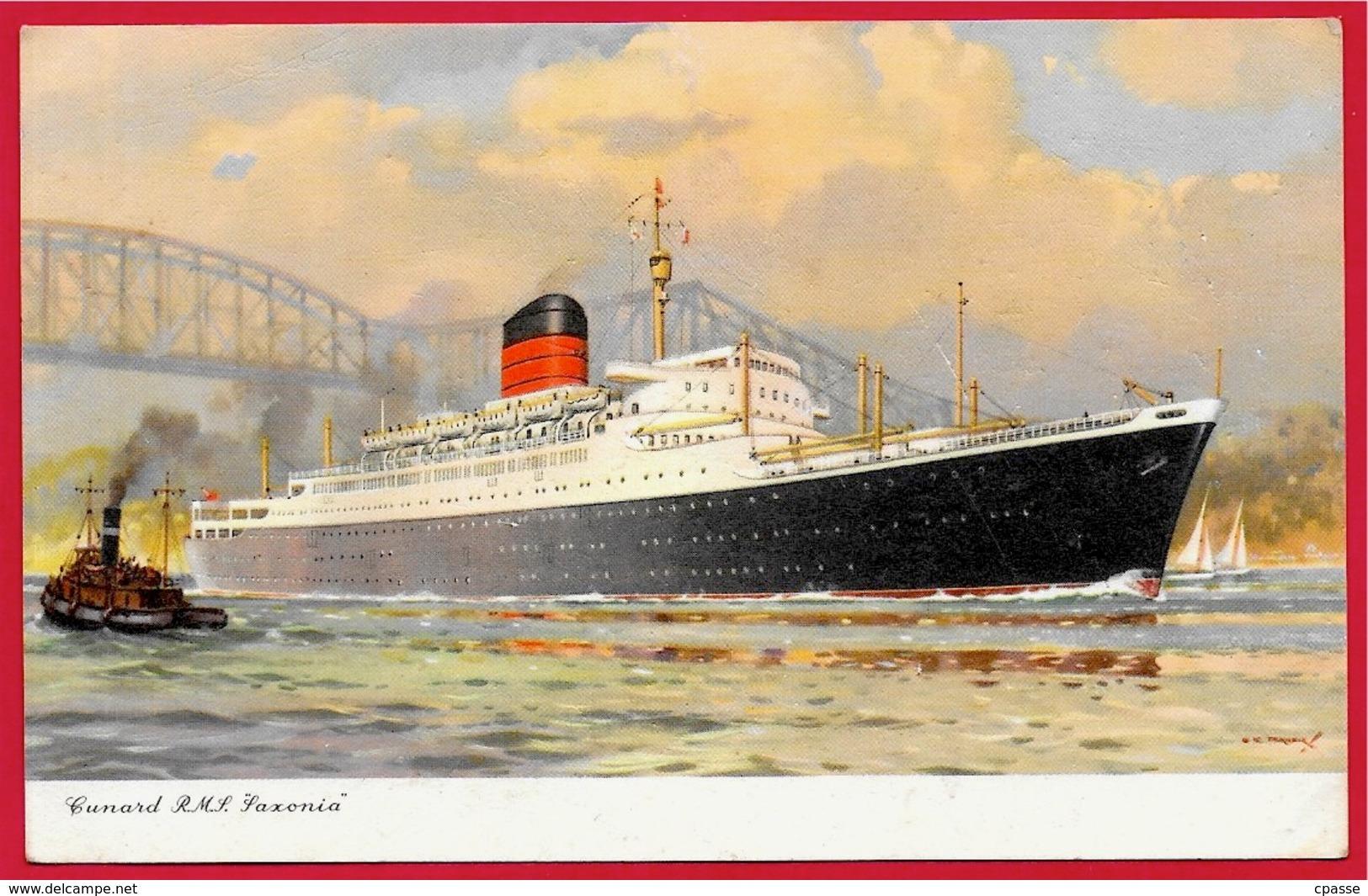 """CPA Bateau PAQUEBOT R.M.S. """"SAXONIA"""" Cunard  ** Ship - Paquebots"""