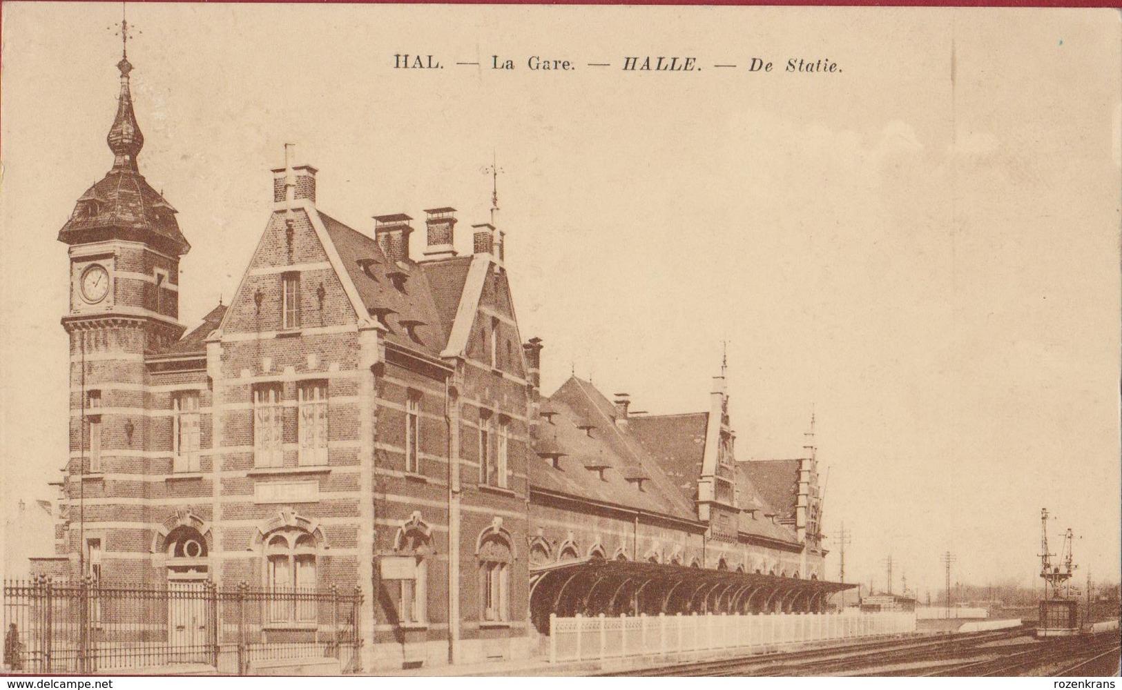 Halle Hal La Gare De Statie Station  (In Zeer Goede Staat) - Halle