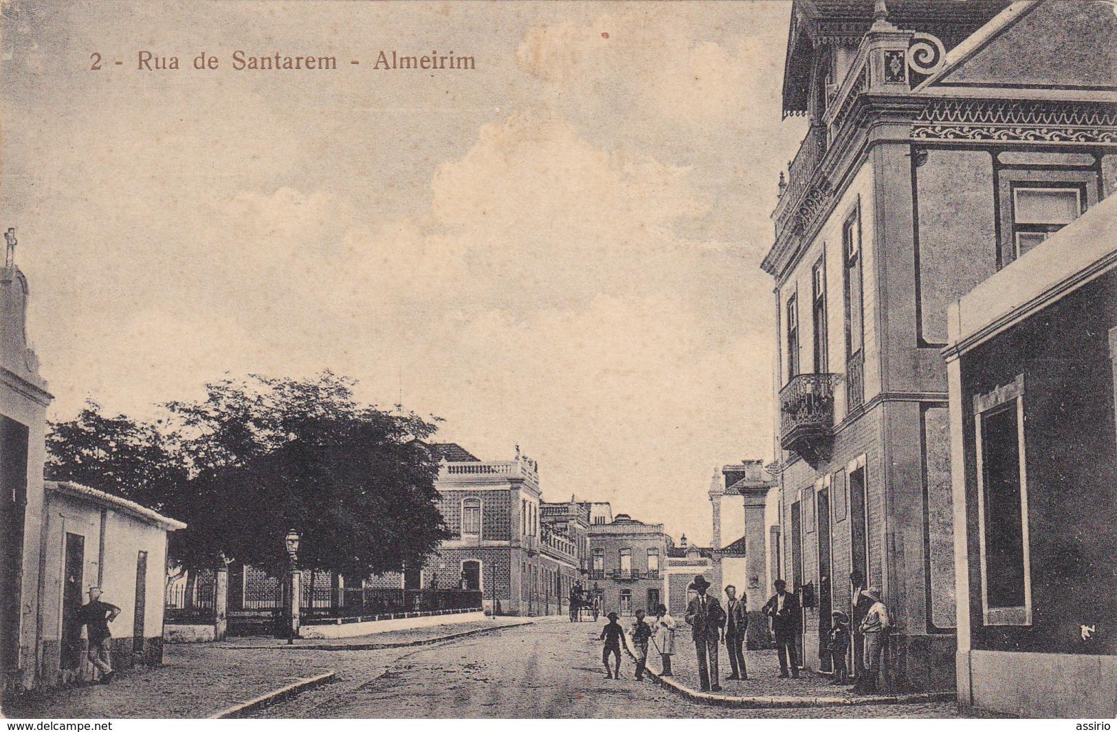 Portugal-  Almeirim Rua De  Santarem - Santarem