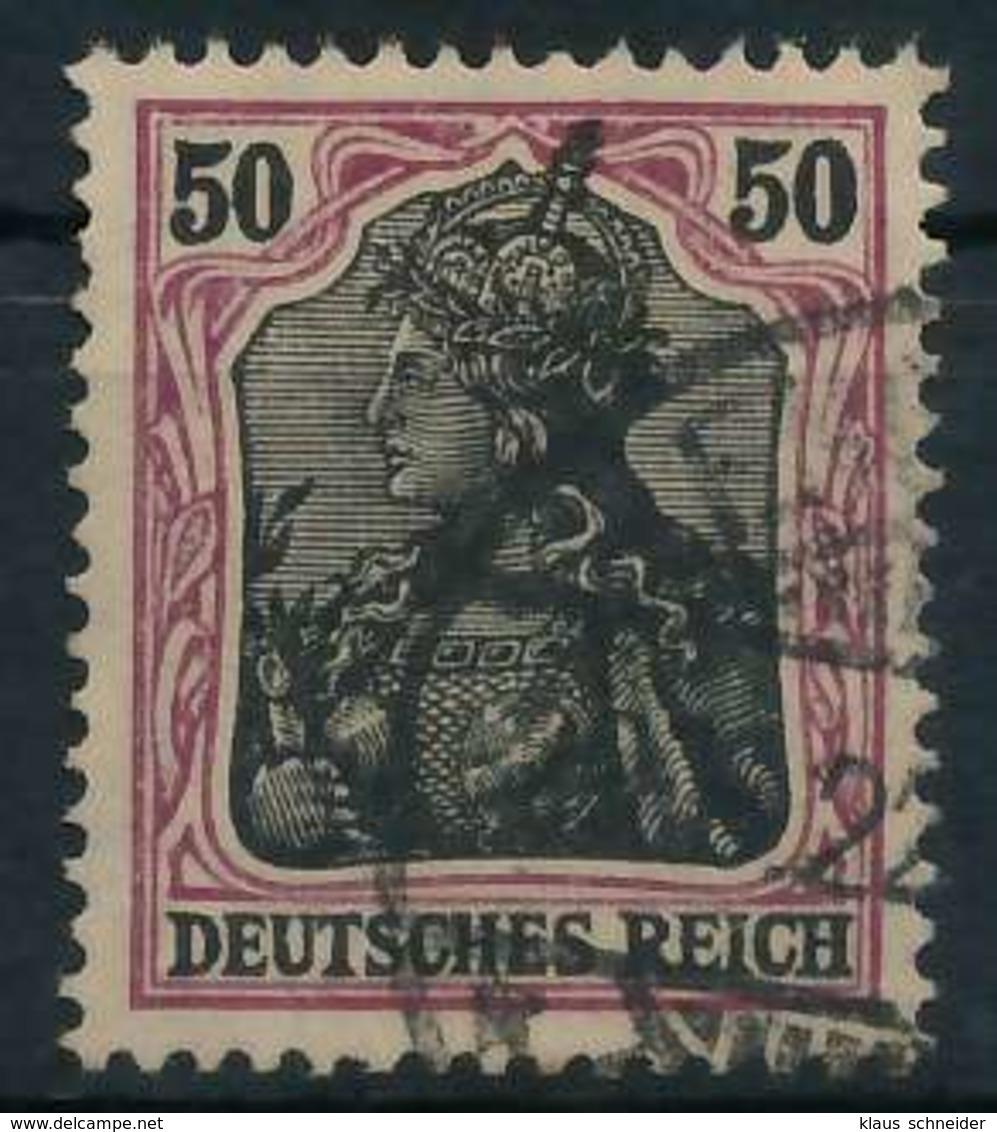 DEUTSCHES REICH 1900 18 GERMANIA Nr 91IIx Gestempelt Gep X89908E - Gebraucht