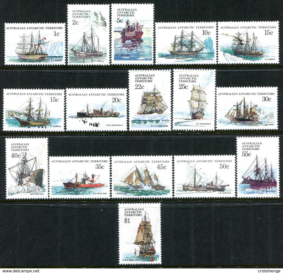 Australian Antarctic Territory 1979-81 Ships Set MNH (SG 37-52) - Unused Stamps