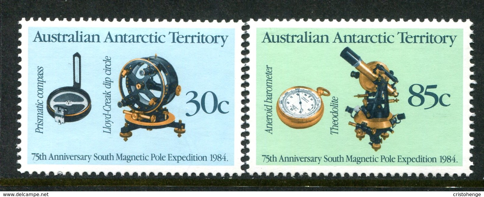 Australian Antarctic Territory 1984 75th Anniversary Of Magnetic Pole Expedition Set MNH (SG 61-62) - Unused Stamps