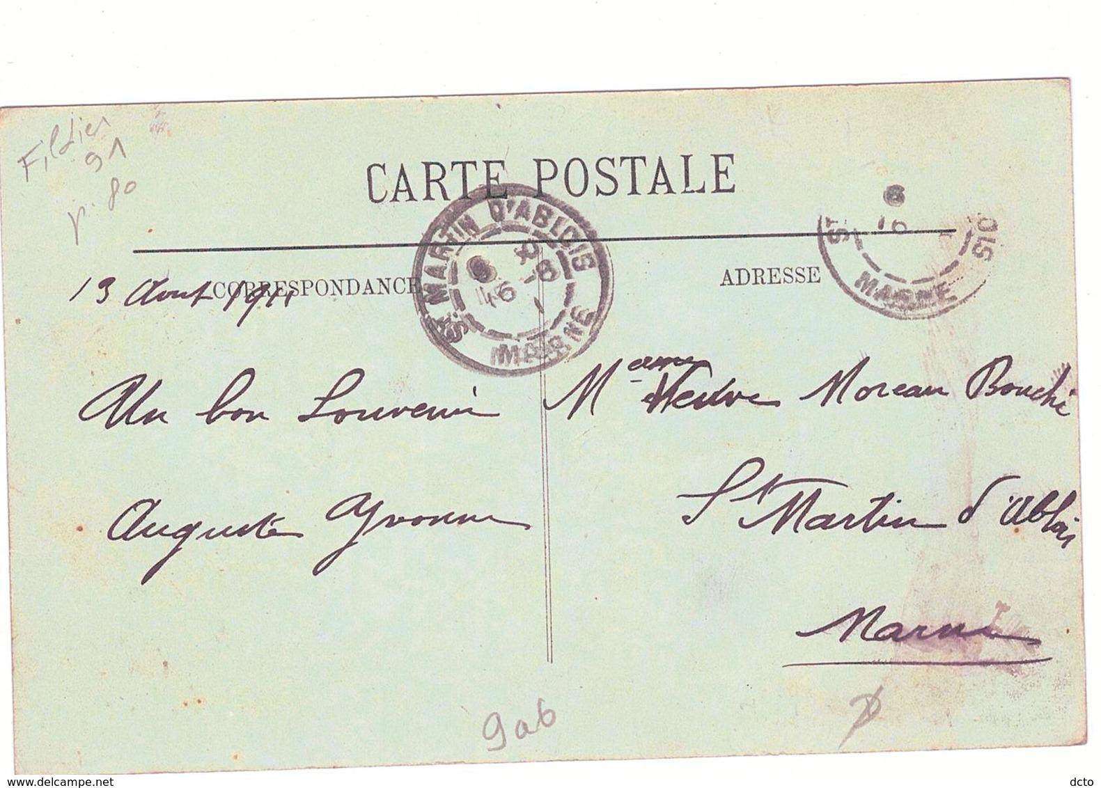 DIVES Le Marché LL 16,envoi 1911 - Dives