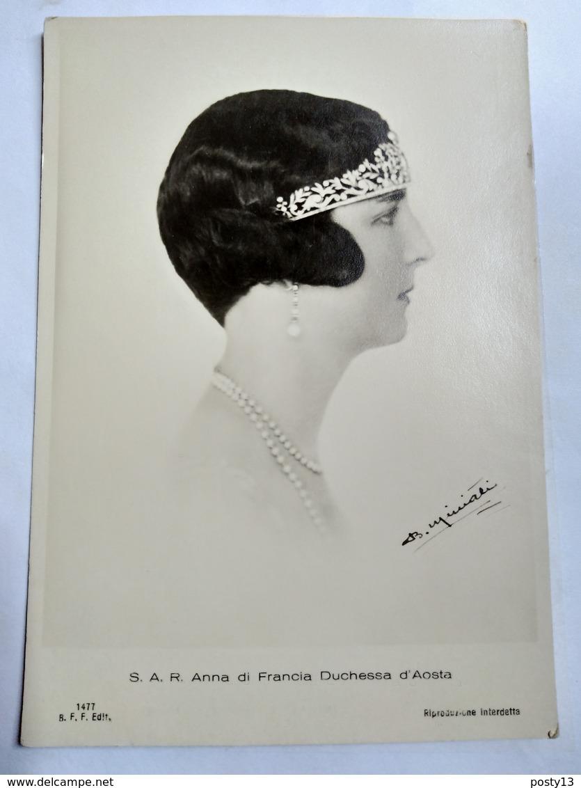 ITALIE - Anna Di Francia ( Anne D'Orléans) - Duchessa D Aoste - Vice Reine D Ethiopie - TBE - Royal Families