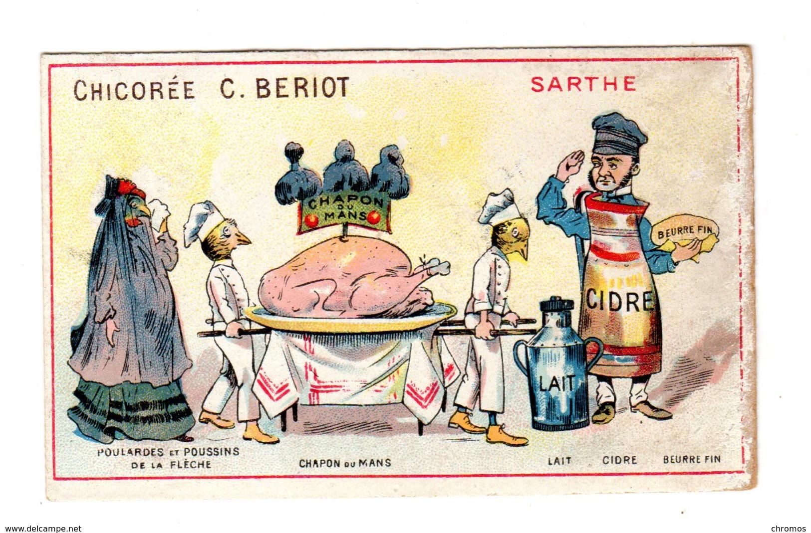 Chromo  France Gastronomique, Sarthe, Cidre..., Chicorée Bériot, Lille - Cromos