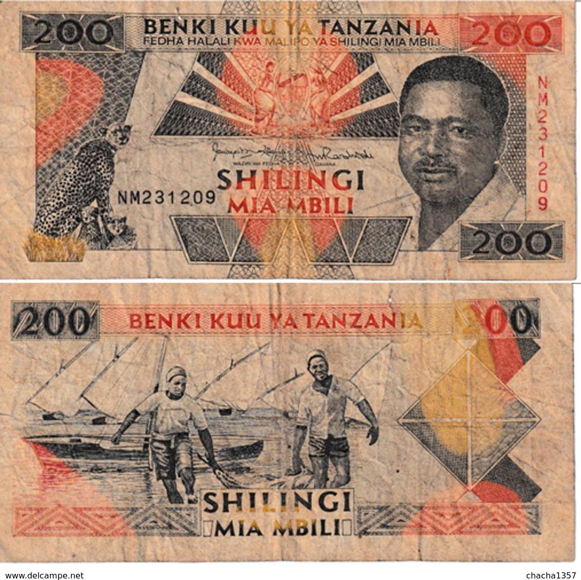 Tanzanie 200 Shillings - Tanzania