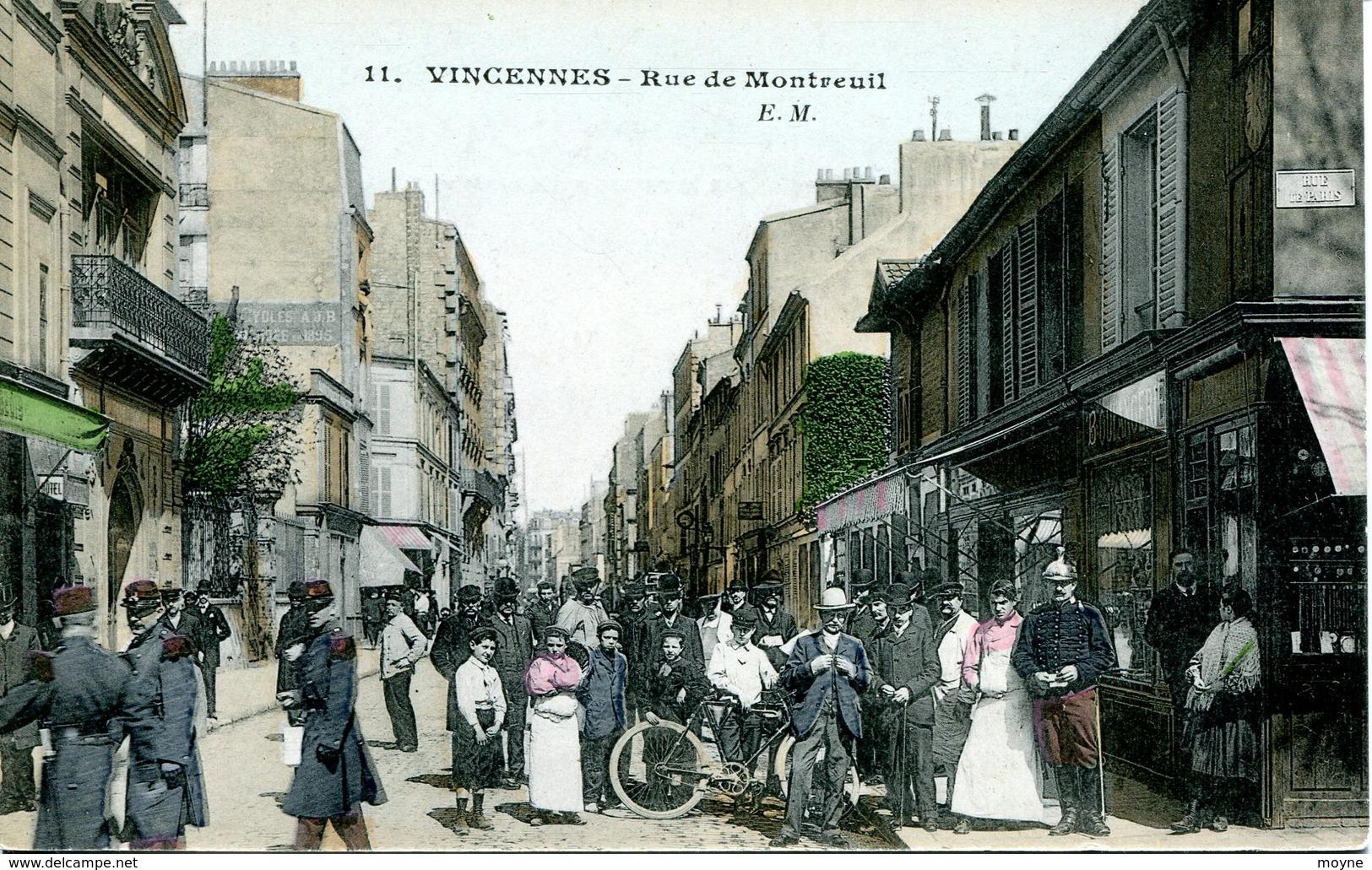 14064 -  Val De Marne -  VINCENNES :  RUE  DE  MONTREUIL  TRES BELLE ANIMATION - Vincennes