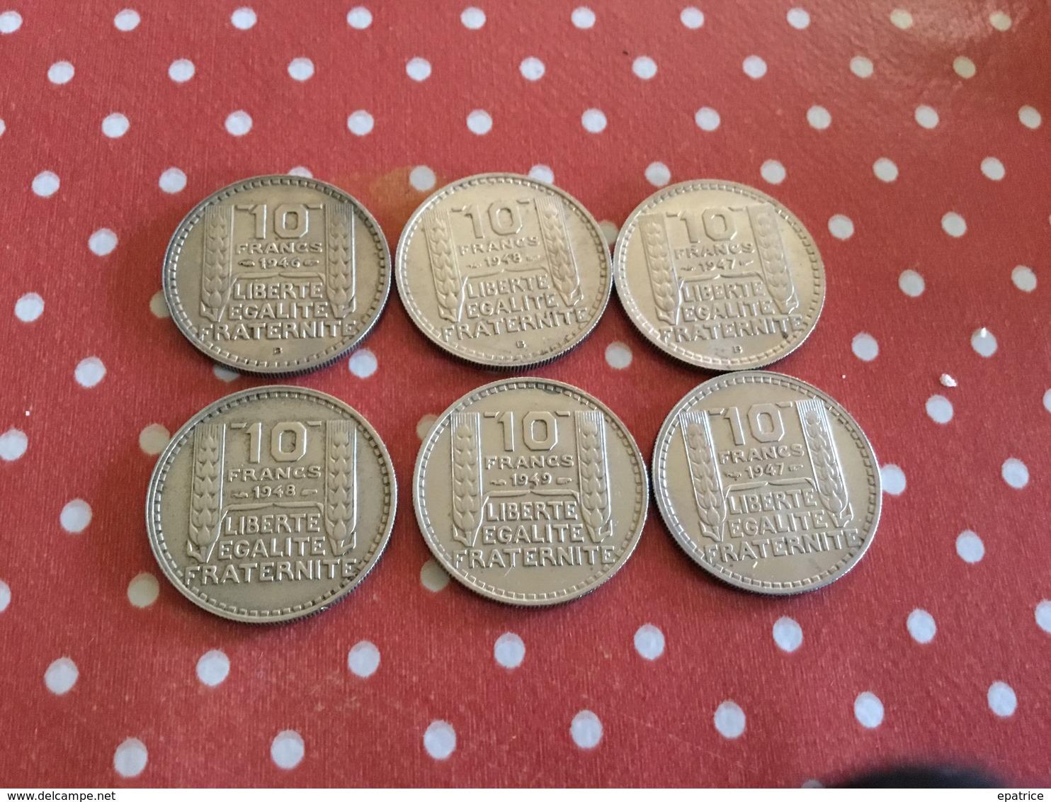 LOT DE 6 PIÈCES VOIR LE SCAN - Monedas & Billetes