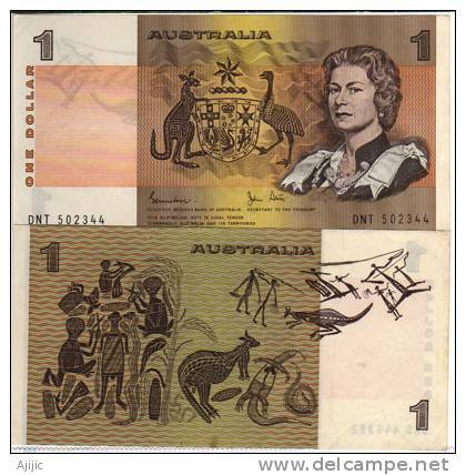 Billet $ 1 . Reine Elisabeth II. Emis Annees 1980 Etat Neuf   Recto-verso / Front-back - 1974-94 Australia Reserve Bank (paper Notes)