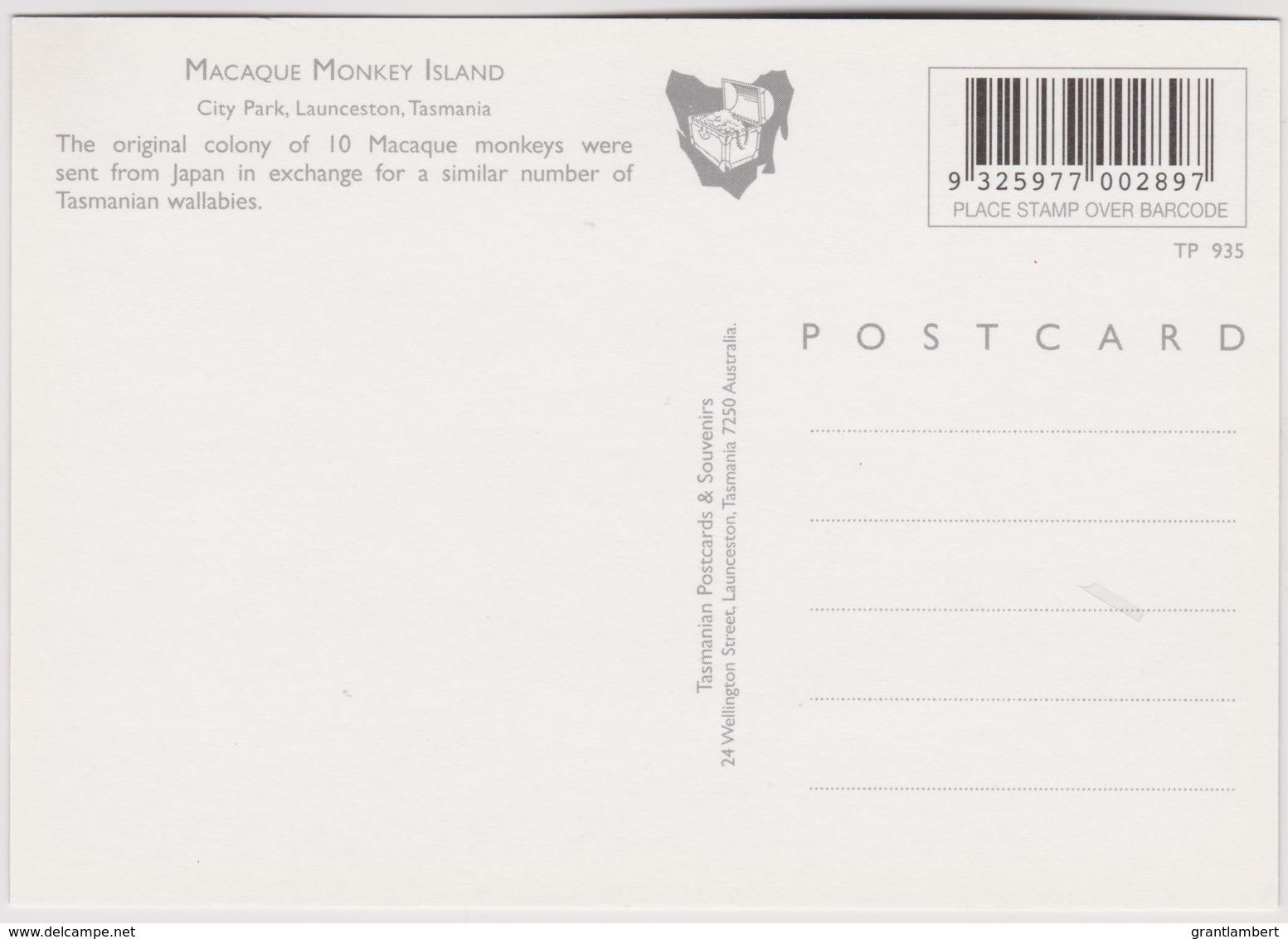 Macaque Monkey Island, City Park, Launceston, Tasmania - Unused - Lauceston