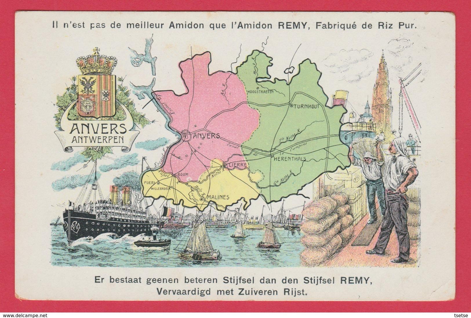 Antwerpen - Postkaart, Beschrijving Van De Provincie ... Amidon Remy ( Verso Zien ) - Belgique