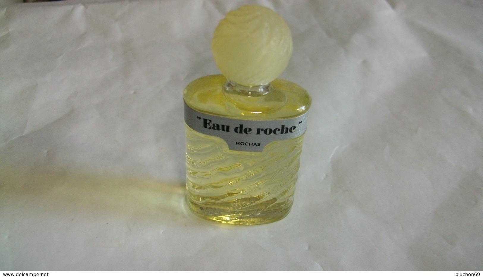 """Miniature De Parfum Rochas """" Eau De Roche  """" Eau De Toilette Avecétiquette Argent - Vintage Miniatures (until 1960)"""