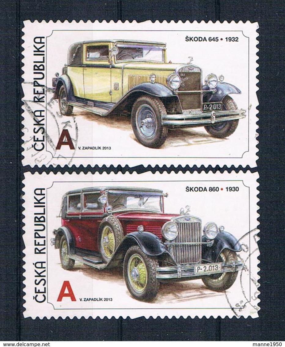 Tschechische Republik 2013 Autos Mi.Nr. 778/79 Gestempelt - Czech Republic