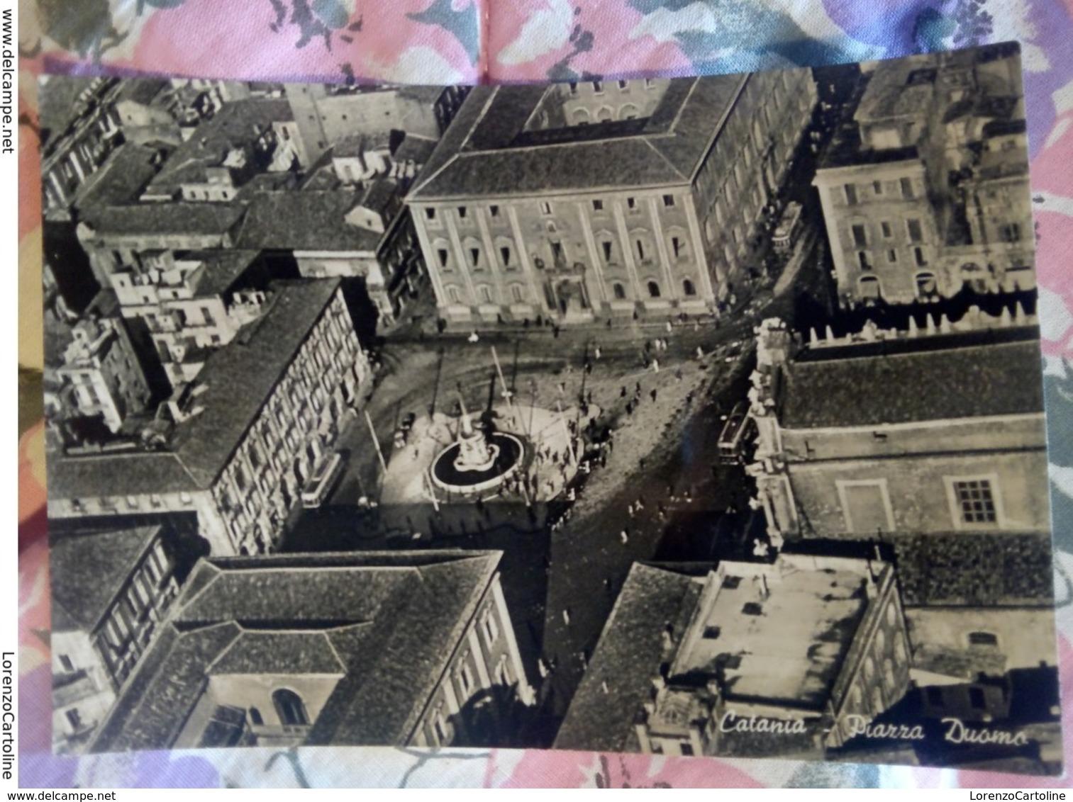 Catania Piazza Duomo Animata VIAGGIATA Anni 50 - Catania