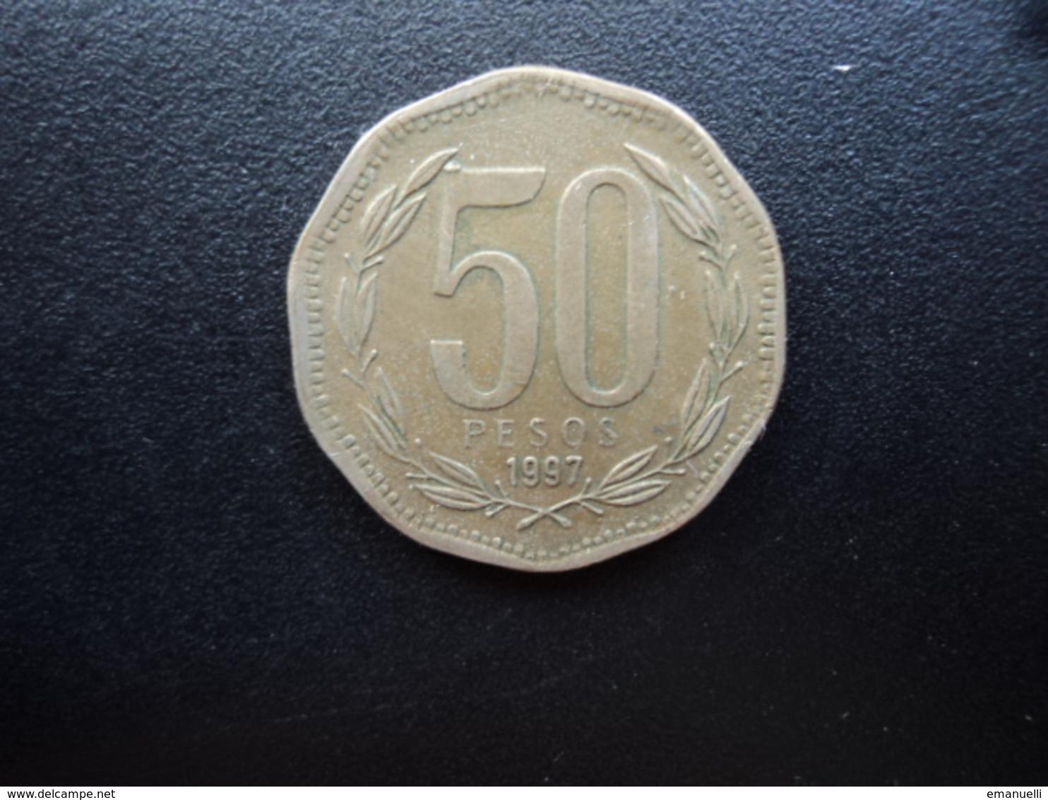 CHILI : 50 PESOS   1997. So    KM 219.2       TTB+ - Chile