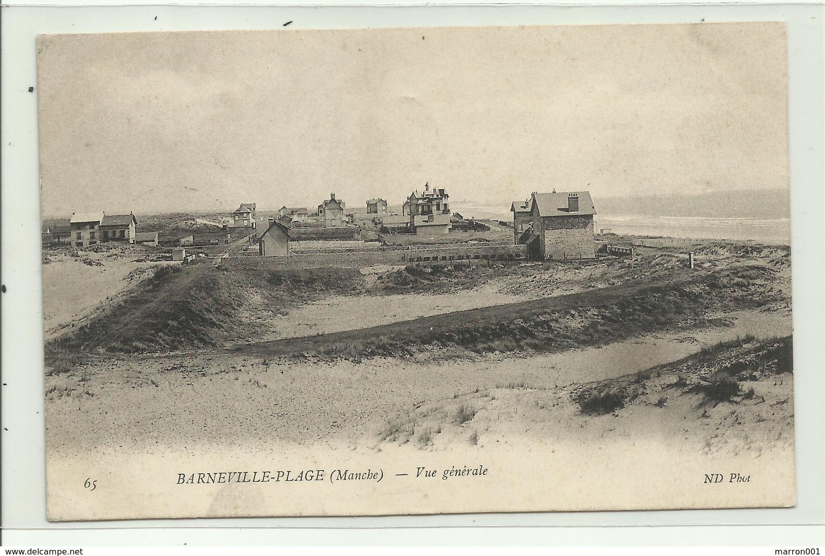 Barneville-Place (Manche) Vue Génerale ( 2 Scans) - Barneville