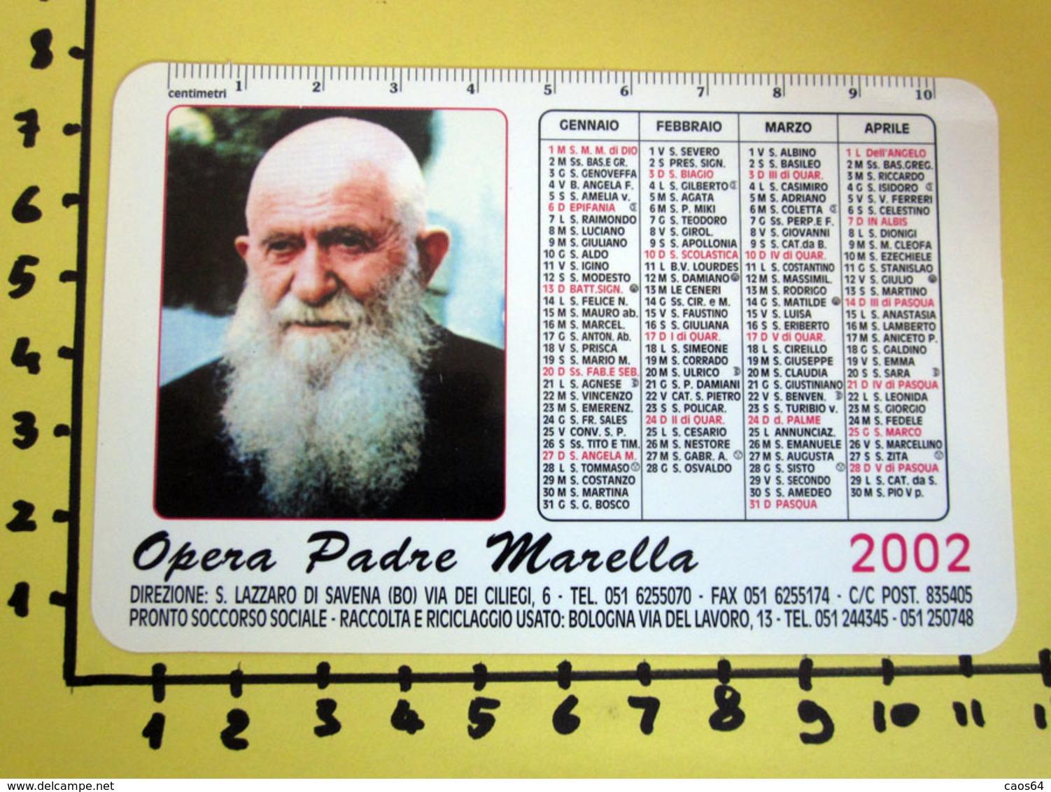 OPERA PADRE MARELLA 2002  CALENDARIO TASCABILE PLASTIFICATO - Big : 2001-...