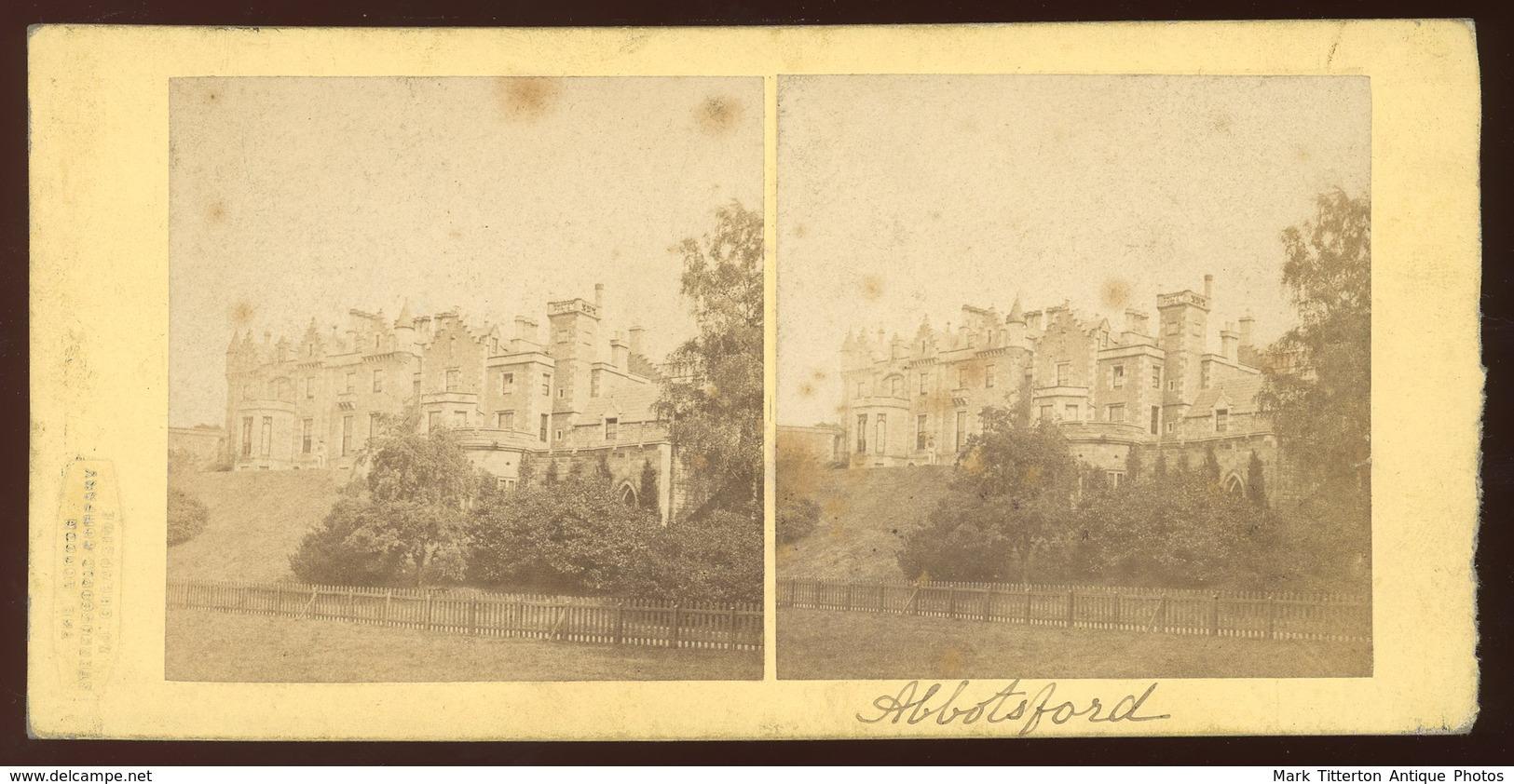 Stereoview - Abbotsford SCOTLAND - Stereoscopi
