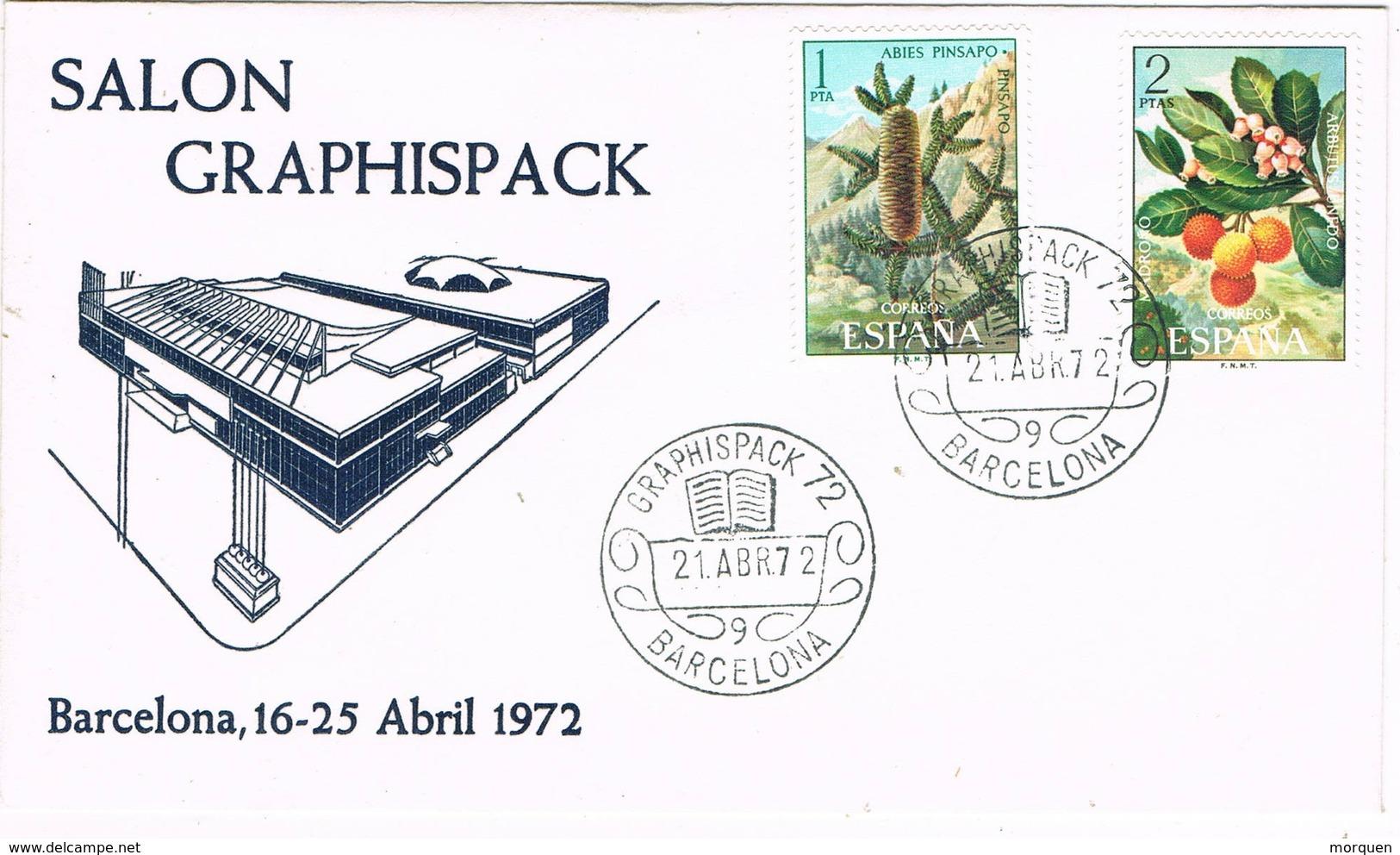 33423. Carta BARCELONA 1972. Salon GRAPHISPACK, Artes Graficas - 1931-Hoy: 2ª República - ... Juan Carlos I