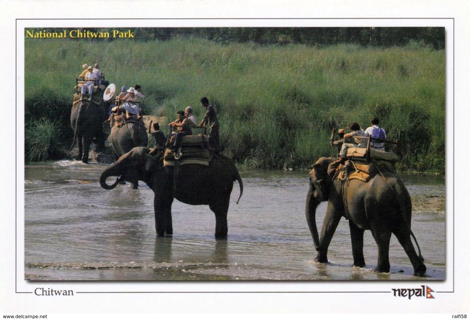 1 AK Nepal * Der Chitwan-Nationalpark - Seit 1984 UNESCO Weltnaturerbe - Chitwan Jungal Safari * - Nepal