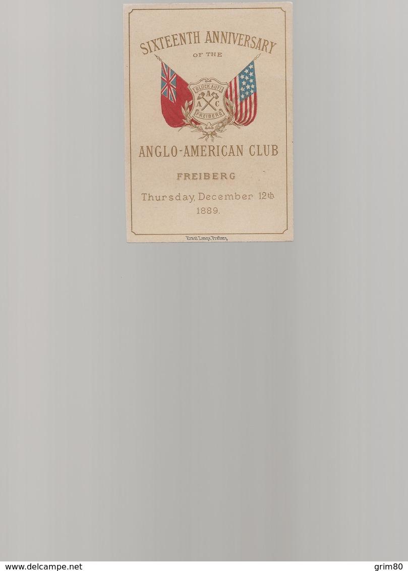 MENU   ANGLO  AMERICAN   CLUB - Menus