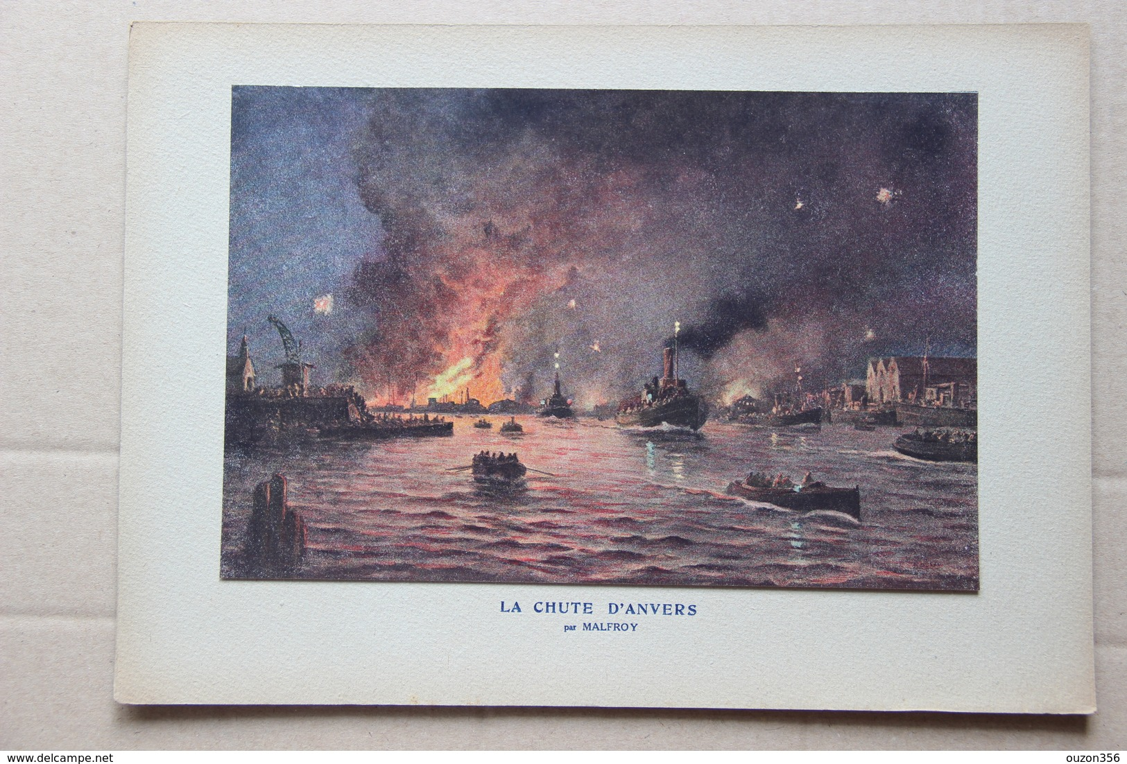 La Chute D'Anvers (Belgique) Par Malfroy - Estampes & Gravures
