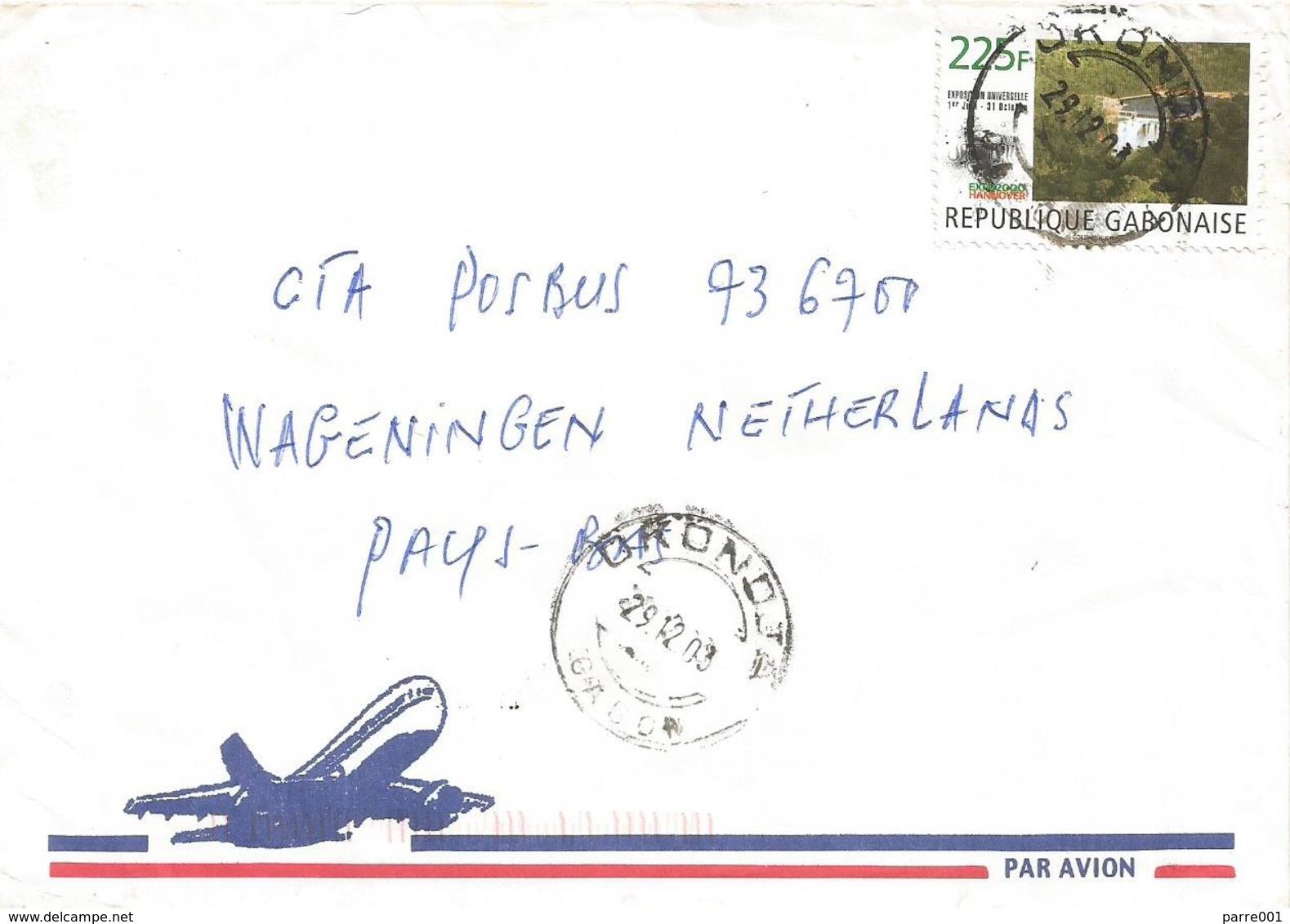 Gabon 2003 Okondja World Expo Hannover Poubara Waterfall Cover - 2000 – Hanover (Germany)