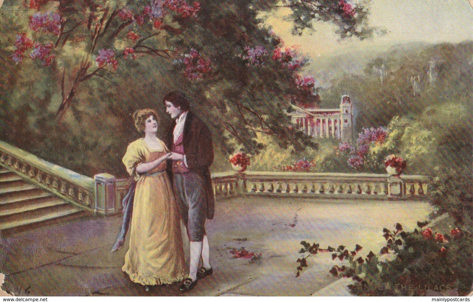 "AL65 Romance - Couple On A Terrace, ""The Lilacs"" - Couples"