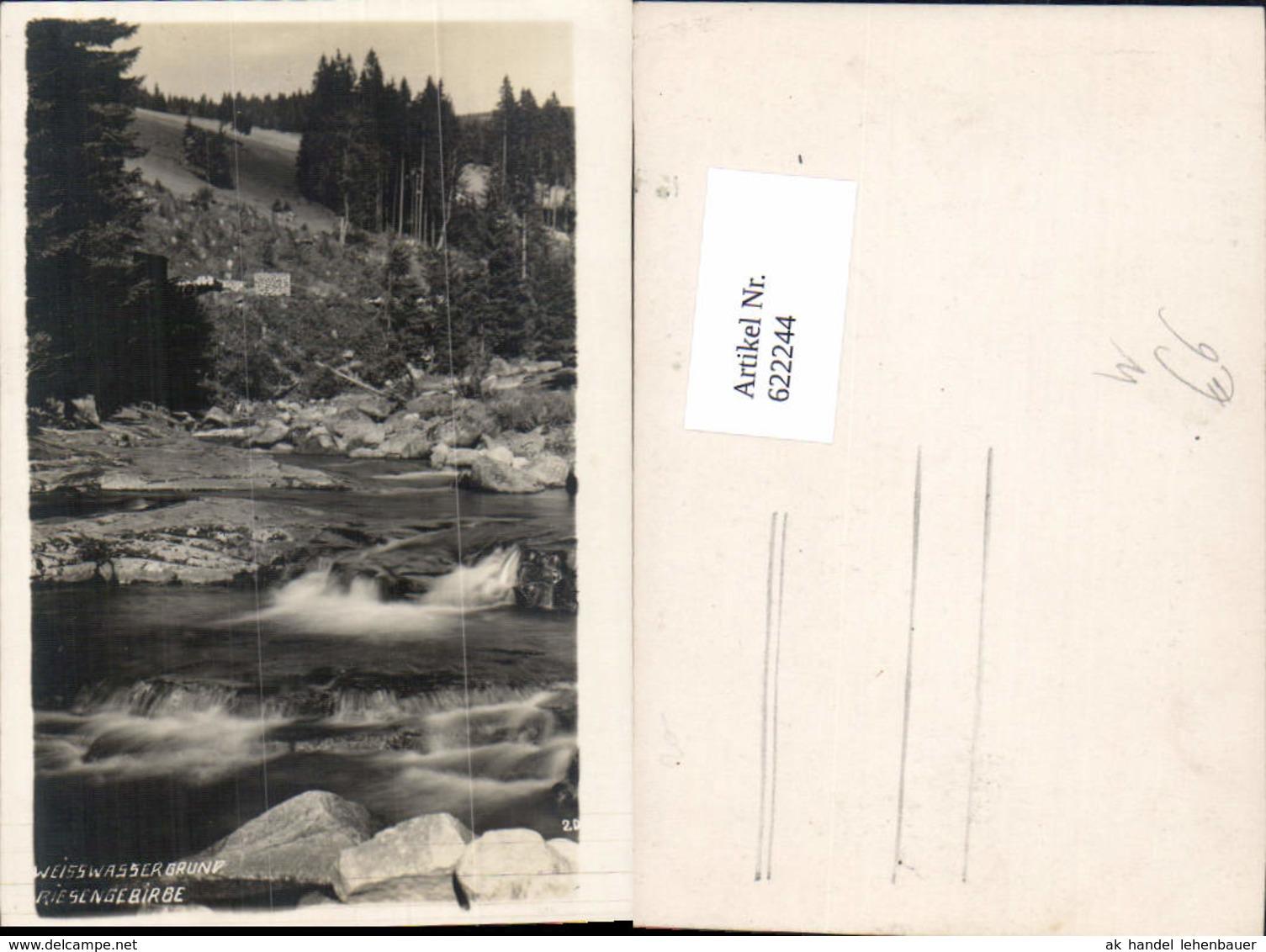 622244,Foto Ak Weisswassergrund Riesengebirge Bílé Labe Spindleruv Mlyn Spindlermühle - Ansichtskarten