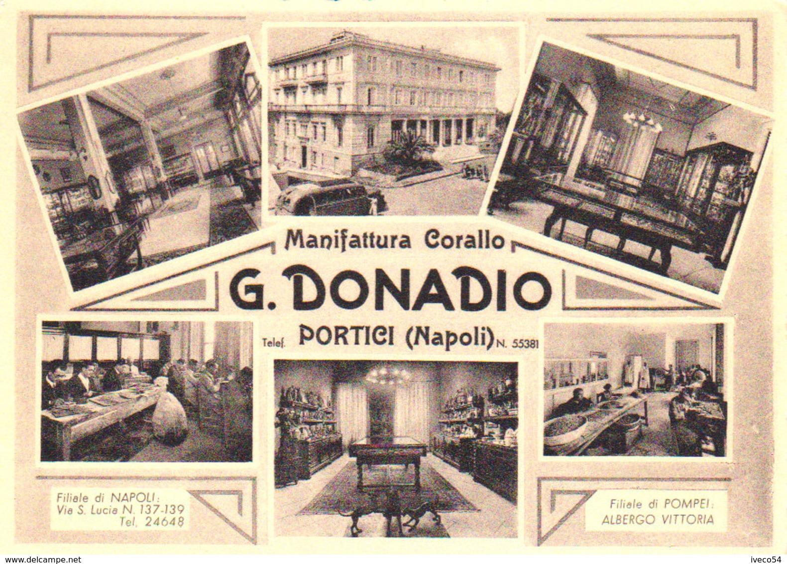 """Portici  / Napoli  """" Manufattura Corallo - G. Donadio """" - Caserta"""