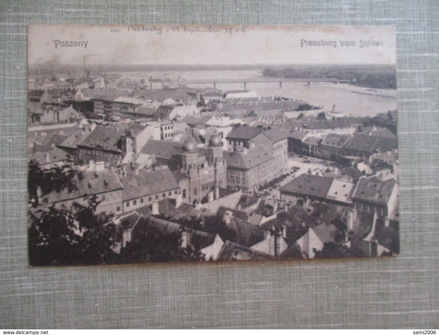 CPA SLOVAQUIE POSZONY PRESSBURG VOM SCHLEB - Slovaquie