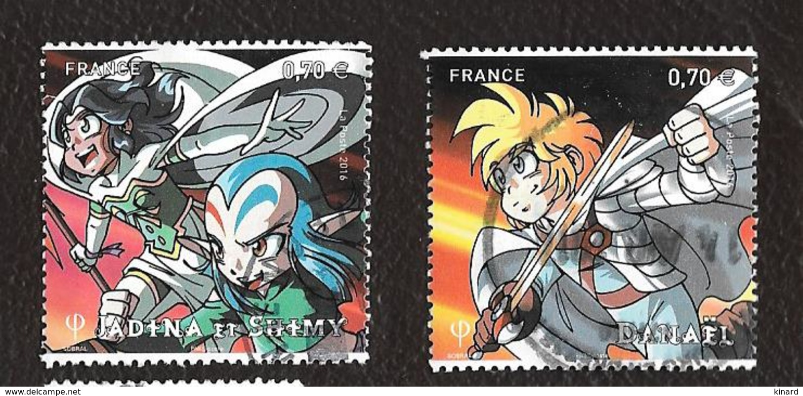 TIMBRES FRANCAIS .  OBLITERATION RONDE. ANNEE 2016.. BANDE DESSINEE MANGA..LA PAIRE  N°5081/5082. TBE SCAN - Usati