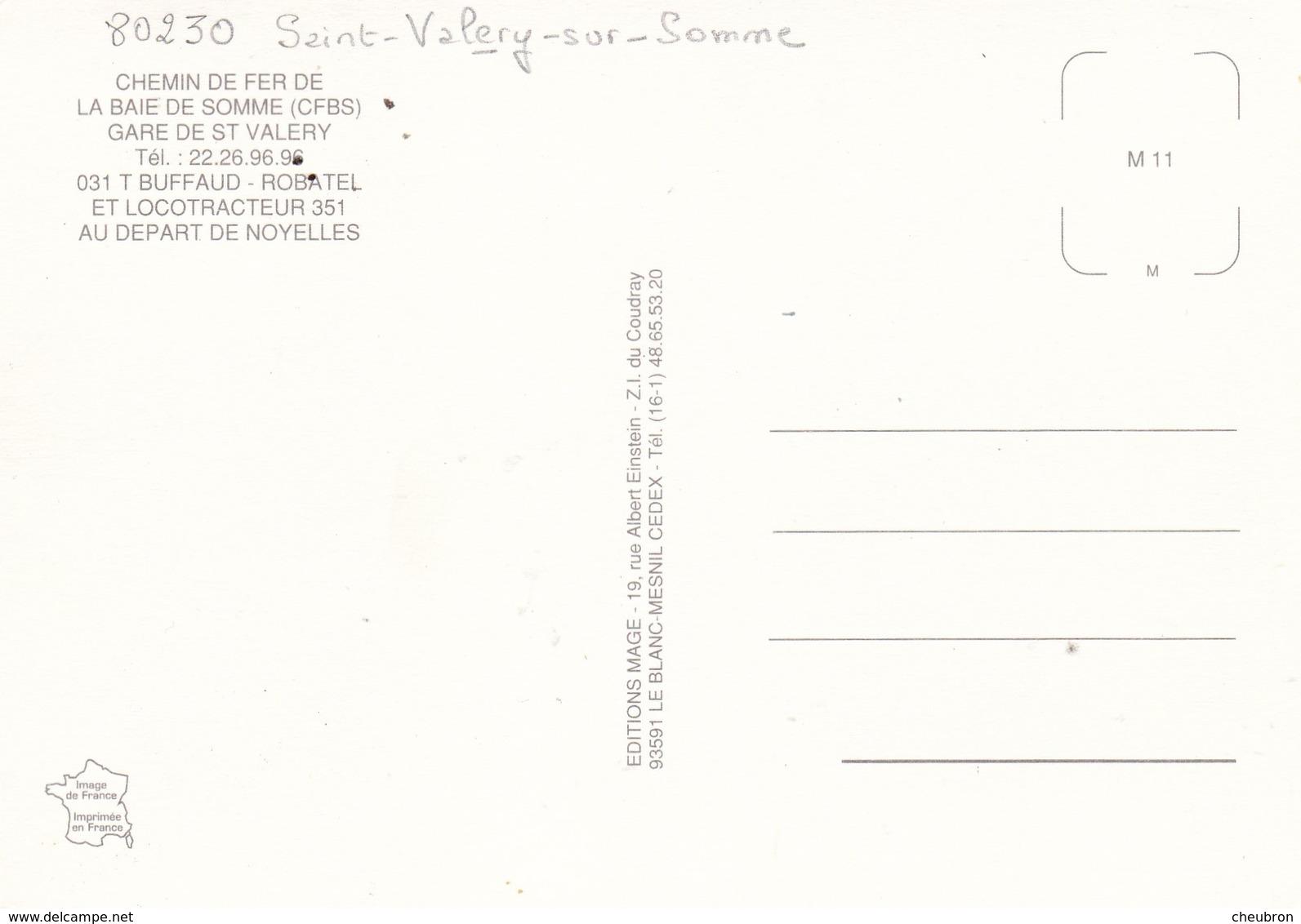80. SAINT VALERY SUR SOMME. 3 CARTES.. CHEMIN DE FER DE LA BAIE DE SOMME. - Saint Valery Sur Somme