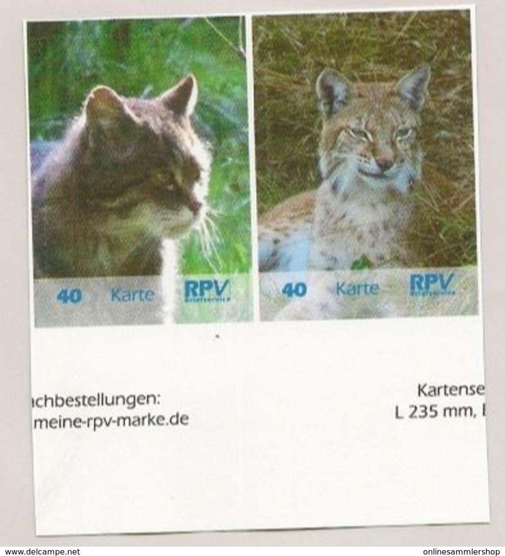 BRD - Privatpost - RPV Briefservice - Doppelstück  Luchs (Lynx Lynx) / Wildkatze (Felis Silvestris) - BRD