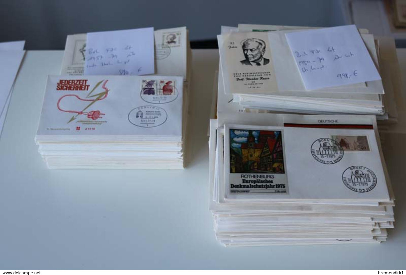 BUND / BERLIN FDC - Lot Aus 1957-79, über Weite Strecken Komplett, 1.870.- €, 48 Bilder ....193 (G) - Lots & Kiloware (min. 1000 Stück)