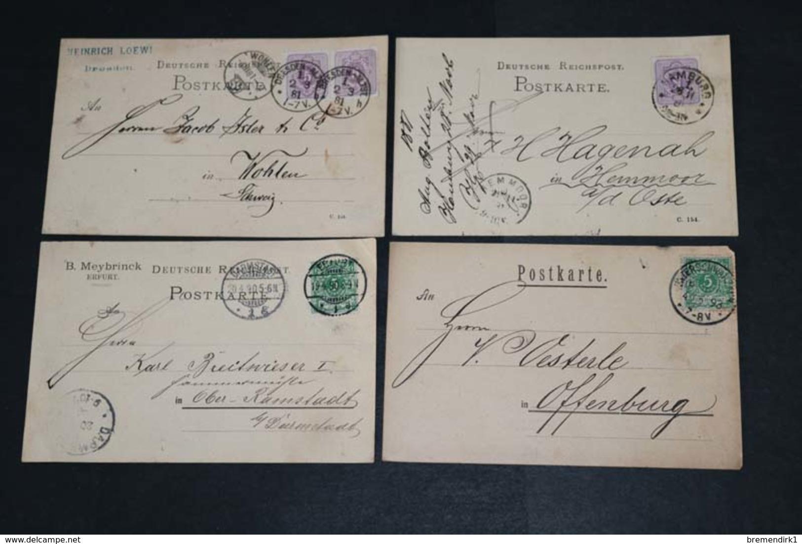 DEUTSCHES REICH Karten/ Postkarten-Posten ....196 (F) - Lots & Kiloware (min. 1000 Stück)
