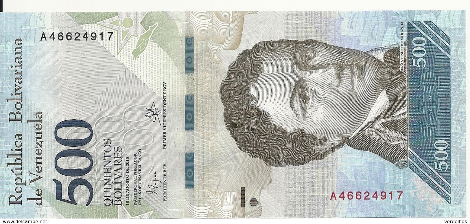 VENEZUELA 500 BOLIVARES 2016 UNC P 94 A - Venezuela