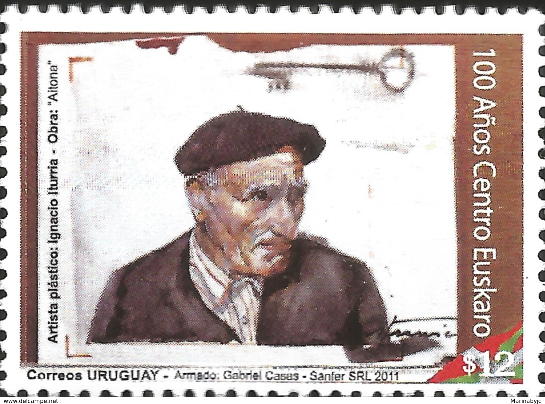 J) 2011 URUGUAY, 100 YEARS OF THE EUSKARO CENTER, ARTISTA PLASTICO, IGNACIO ITURRIA, AITONA WORK, MNH - Uruguay