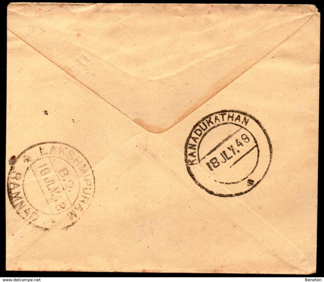 British India Local Postal Stationery 1948 - 1936-47  George VI
