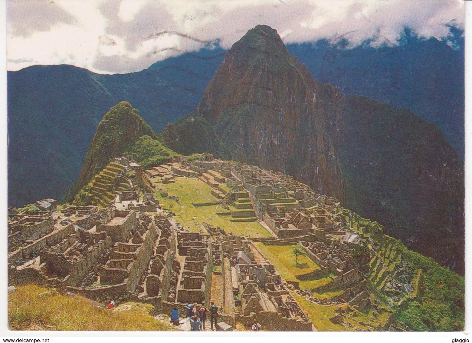 °°° 13362 - PERU - CUZCO - VISTA PANORAMICA DE MACHU PICCHU - 1990 °°° - Perù