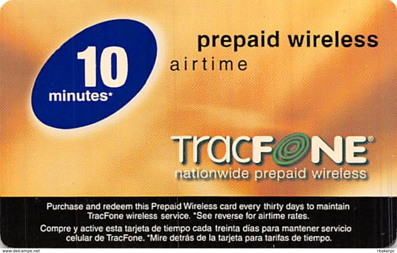 TracFONE 10 Minute Prepaid Wireless Airtime - Prepaid Phone Card - United States