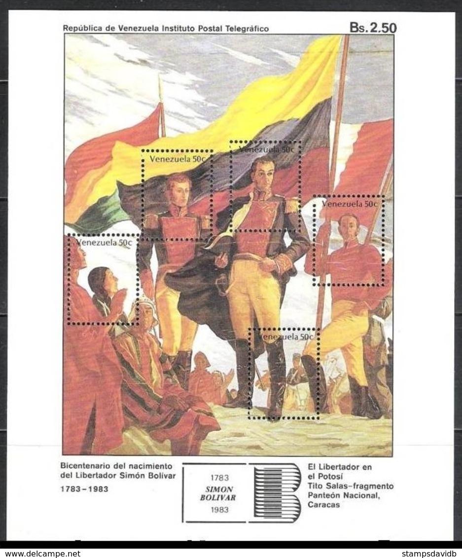 1986Venezuela2238-42/B31Simon Bolivar6,00 € - Venezuela